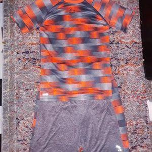 Boys Reebok, dryfit shorts & shirt, sz XL